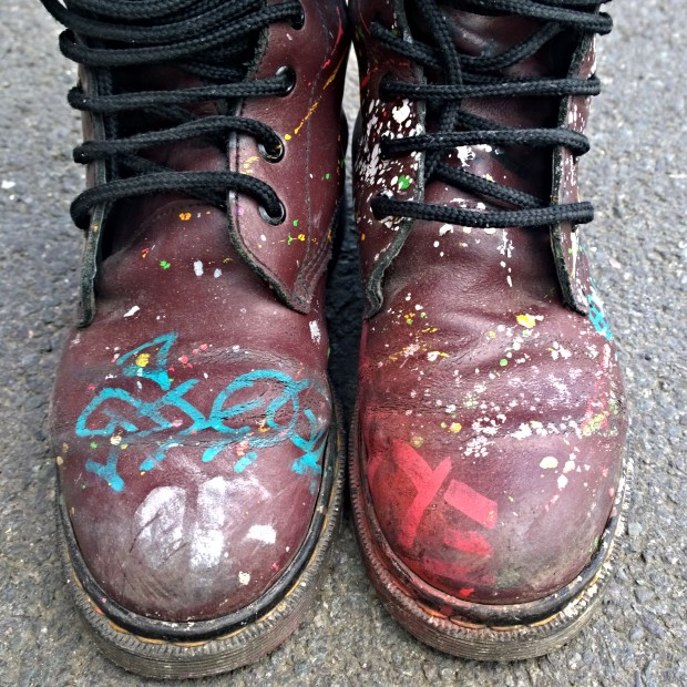 Elno's painting boots getting some more action in Brixton