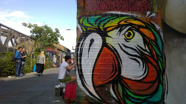 A Fabio Lopes parrot on Pedley Street
