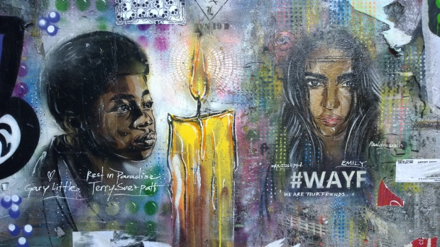 A tribute to local man Terry Sue-Patt and what appears to be a homage to 'We are your friends' actress Emily Ratajkowski