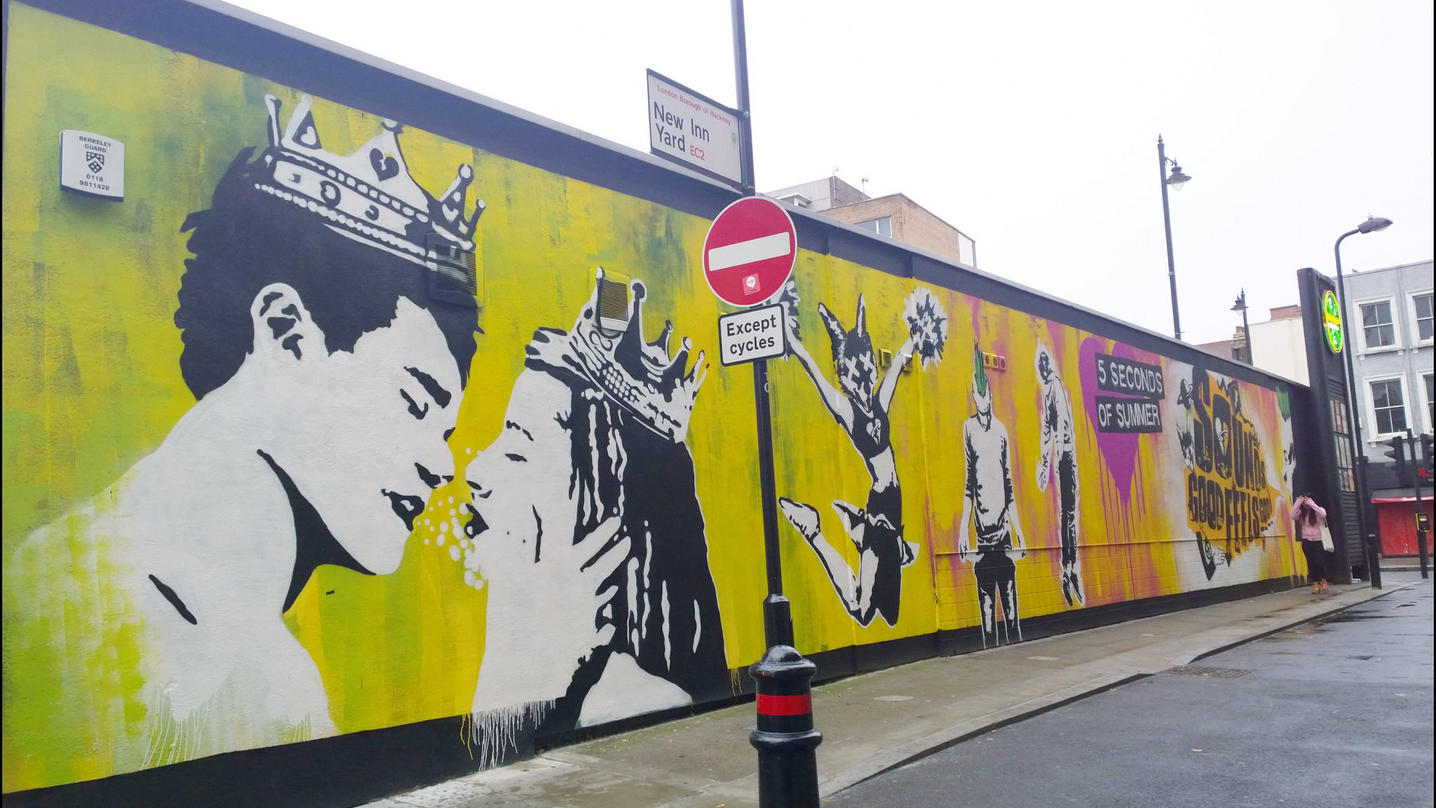 Five seconds of summer mural appears in london as part of 5sos amipublicfo Choice Image