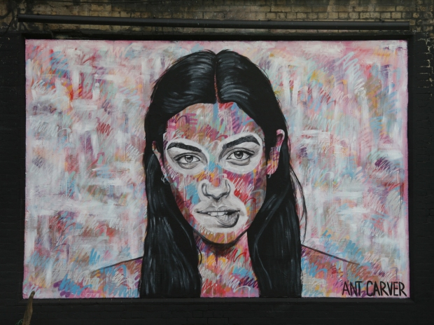 Portrait on the Shoreditch Art Wall