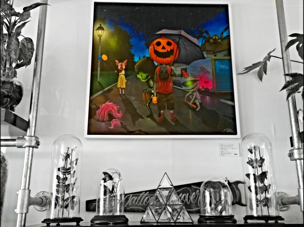 Tom Blackford presented a halloween themed pumpkin piece