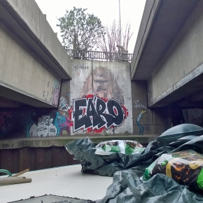 Tagged Borondo on the Hertford Union Canal