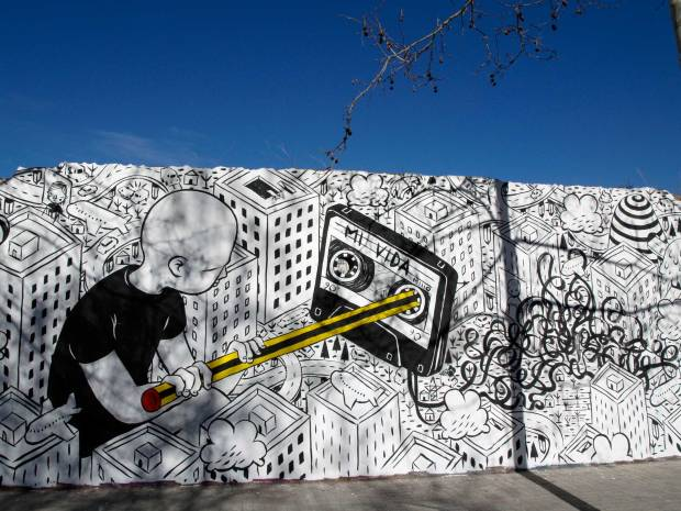 millo image from street art barcelona