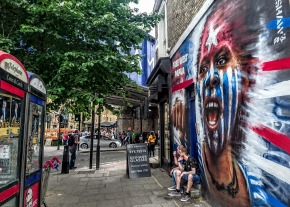 Dale Grimshaw piece on the junction of Castlehaven Road and Chalk Farm Road