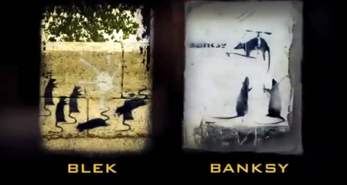 blek vs. banksy