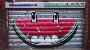 Smiley watermelon from HNRX on New Goulston Street