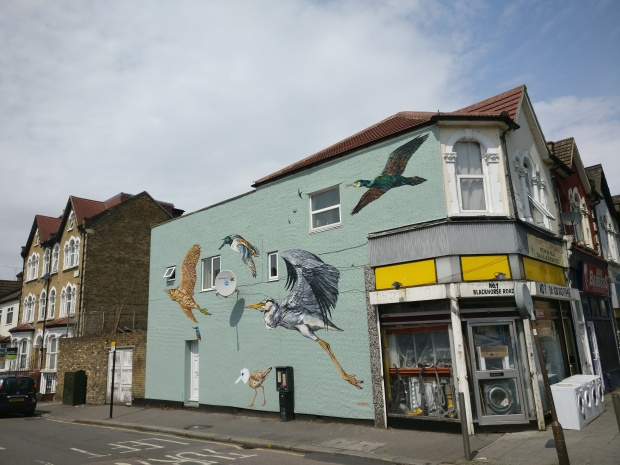 The mural on Coppermill Lane taken from St James Street