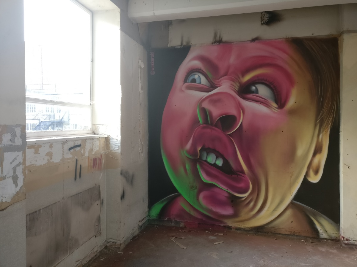 Street Artists take over abandoned office block in Soho