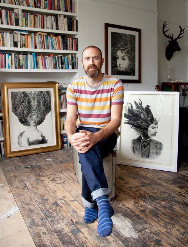 Dan Hillier in his studio